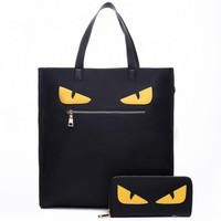 ONETOW Fendi 2018 Fashion Wild Two Piece Women's Shoulder Messenger Bag black