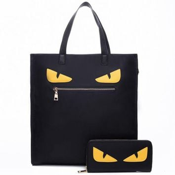 DCCKB62 Fendi 2018 Fashion Wild Two Piece Women's Shoulder Messenger Bag black