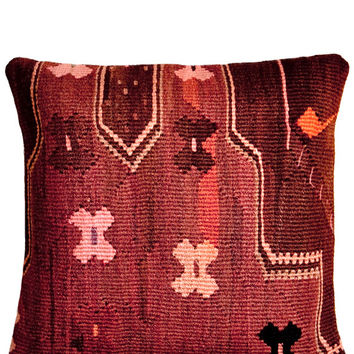 "16"" Kilim Pillow, Muddled Rose"