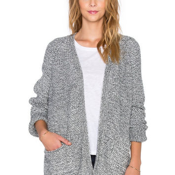 Grey Pocket Long Sleeve Knitted Cardigan