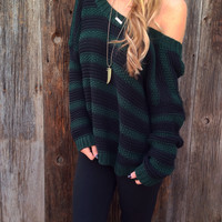 Chunky Knit Stripe Sweater