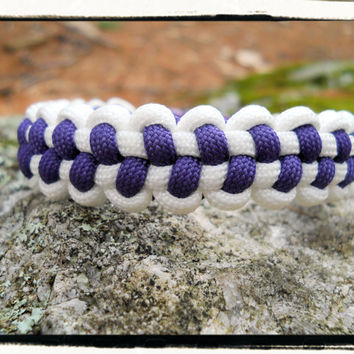 Purple Baseball Stitch Bracelet