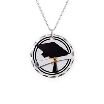 GRADUATION CAP WITH DIPLOMA, NECKLACE