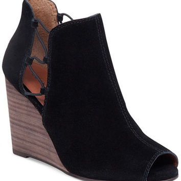 Lucky Brand Women's Reevas Peep-Toe Booties