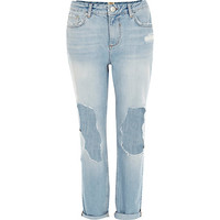 River Island Womens Light wash ripped Ultimate Boyfriend jeans