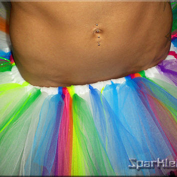 Rainbow Bright TuTu Skirt by SparkleFide on Etsy