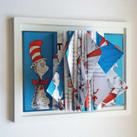 Dr. Seuss Book Sculpture Childrens Room Decor