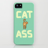 Cat Ass iPhone & iPod Case by Phil Jones