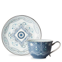 Pearly White Square Ink Cup And Saucer - T2 EU | T2 Tea GB