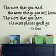 Dr Seuss Wall Decal The more you read the more by decorexpressions