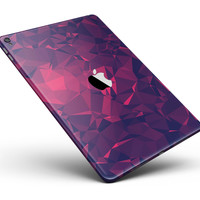 "Vivid Fuchsia Geometric Triangles Full Body Skin for the iPad Pro (12.9"" or 9.7"" available)"