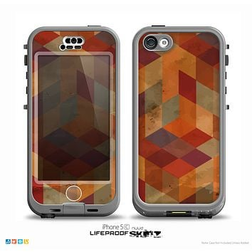 The Autumn Colored Geometric Pattern Skin for the iPhone 5c nüüd LifeProof Case