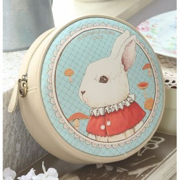Unique Alice in Wonderland Rabbit Messenger Handbag