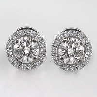 Untreated Natural 59 Carat Diamond Earrings by bluefirejewelry