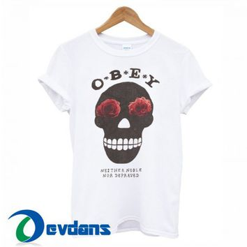 OBEY Skull T Shirt For Women And Men Size S To 3XL