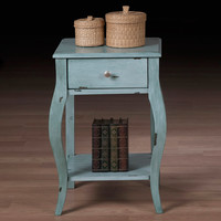 Alexandra Robin Egg 1-drawer Nightstand