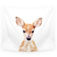 Society6 Little Deer Wall Tapestry
