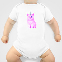 Custom One Piece Baby Body Suit Funky Catsterz Kitty Unicorn
