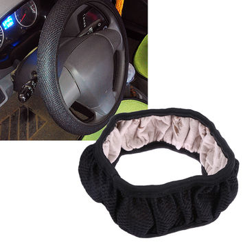 Auto Car 3D nylon fabric Steering Wheel Cover mesh steering-wheel covers anti-slip covers 38CM/15'' A for cars