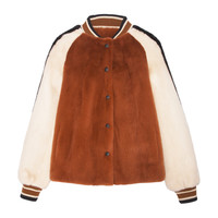 The Boyfriend Antique Orange Fur Coat | Moda Operandi