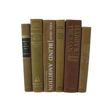 Brown Decorative Vintage Book Set, S/6