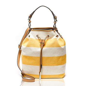 Canvas Stripe Bucket Bag | Tommy Hilfiger USA
