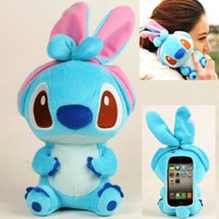 Authentic iPlush Plush Toy Cell Phone Case for Apple iTouch 5 5G (Blue Stitch)