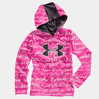 Girls' UA Big Logo Printed Armour® Fleece Storm Hoody | 1232212 | Under Armour US
