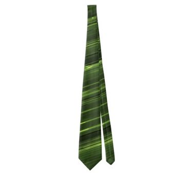 Emerald green lines of light neck tie