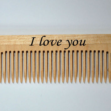 Personalized Wood Comb. Men Comb, Women Comb, Beard Comb, Natural Hair Care, Convenient Size, Comfort Feel, Custom comb, hairbrush,