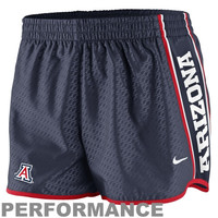 Nike Arizona Wildcats Womens Chainmaille Pacer Performance Shorts - Navy Blue