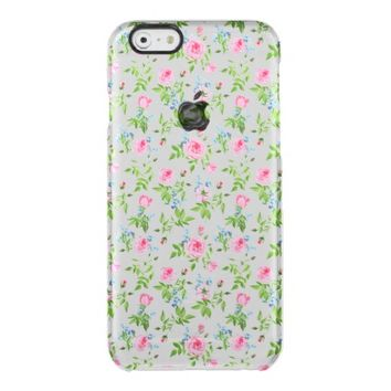 Beautiful,floral,pink,pattern,girly,trendy,chic, Uncommon Clearly™ Deflector iPhone 6 Case