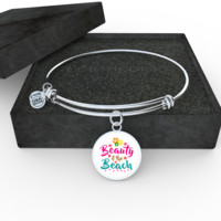 Beauty and The Beach Bangle - Engraving Available