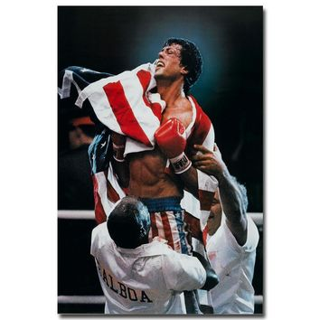 Rocky Balboa Art SYLVESTER STALLONE Movie Pictures Living Room Decor boxing fighter home champion