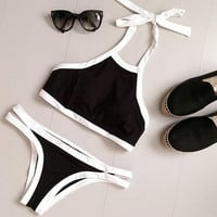 Sexy Summer Beach Swimwear Set Swimwear Sports Swimsuit Tank Top