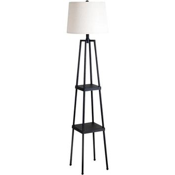 Etagere Floor Lamp, Distressed Iron/Beige Shade - Walmart.com
