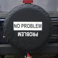 All Things Jeep - No Problem / Problem - Black Spare Wheel Cover