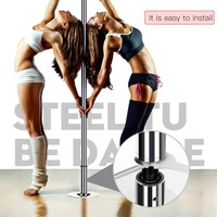 2.3~ 2.7m Portable Stripper Pole Fitness Exercise Spinning Dancing Steel Pole Professional Dancing Spinning Pole High Quality