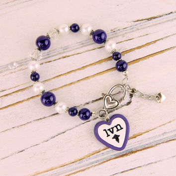 LVN bracelet, LVN jewelry, lvn gifts, nurse bracelet, nurse jewelry, lvn accessories