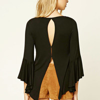 Contemporary Vented-Back Top