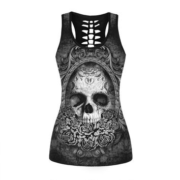 Skull  Sleeveless Tops
