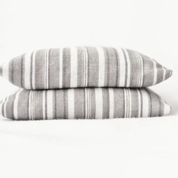 Grey Stripe Balsam Sachets Modern French Country Set by gardenmis