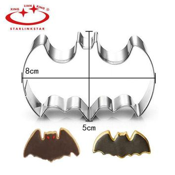ICIK272 1Pc Stainless Steel 3D Batman Cookie Cutter Batman Film Theme Mousse Ring Biscuit Embossing Mould Cake Mold Baking Pastry tool