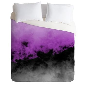 Caleb Troy Zero Visibility Radiant Orchid Duvet Cover