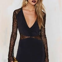 Nasty Gal In the Right Lace Bodycon Dress