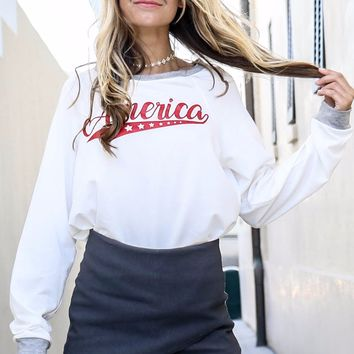 America Babe Graphic Sweatshirt