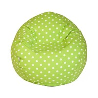 Small Classic Printed Bean Bag - Small Polka Dots - Lime