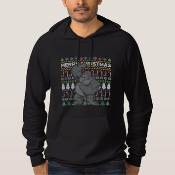 Wildlife Gorilla Merry Christmas Ugly Sweater