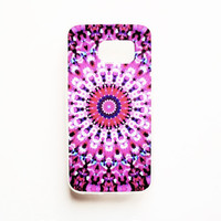 Samsung Galaxy S6 Edge Kaleidoscope Case Soft Plastic Geometric Galaxy S6 Edge Back Cover Bright Tribal Samsung S6 Edge Cover