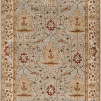 Surya Bungalow BNG5014 Grey/Neutral Arts and Crafts Area Rug